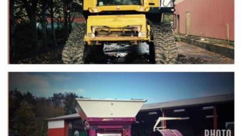 kibæk Maskinstation tilbyder høsten med larvebånd og valsning af majs.